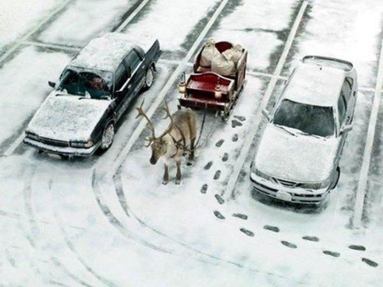 Дід мороз припаркувався