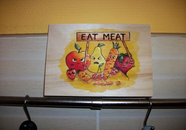 Протест проти вегетаріанців