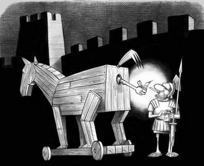 Троянський кінь дає прикурити