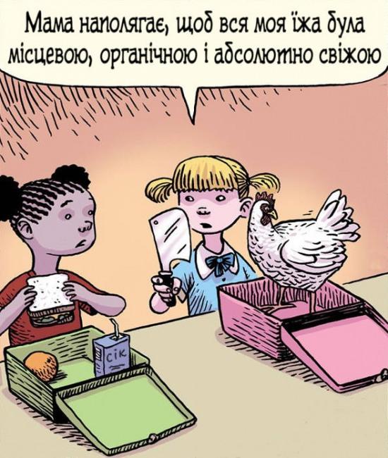 Свіжий шкільний обід