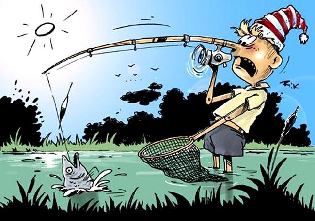 Піноккіо на риболовлі