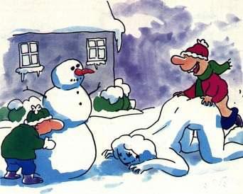 Ліпимо снігових баб