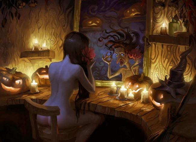 Відьма в ніч на Хеллоуїн