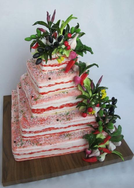 Торт з сала