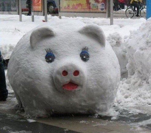 Свиня-сніговик