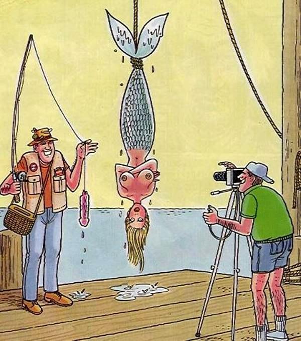 Ловля русалки на живця