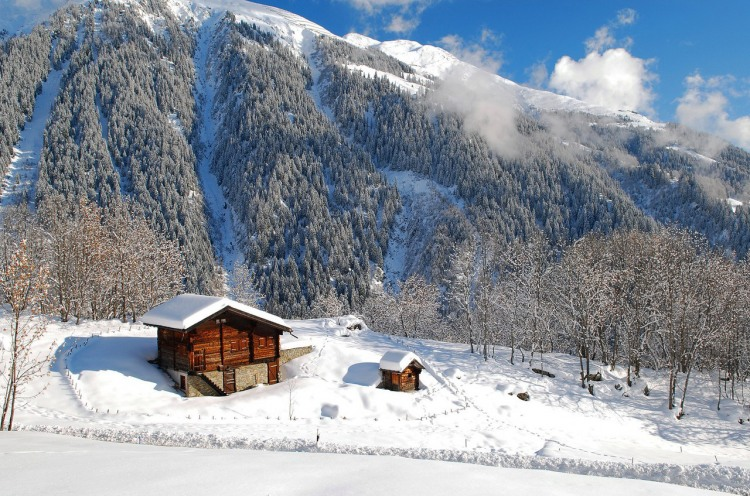 Будиночок в зимових горах