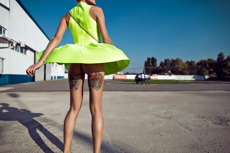 Сукня злетіла як гелікоптер