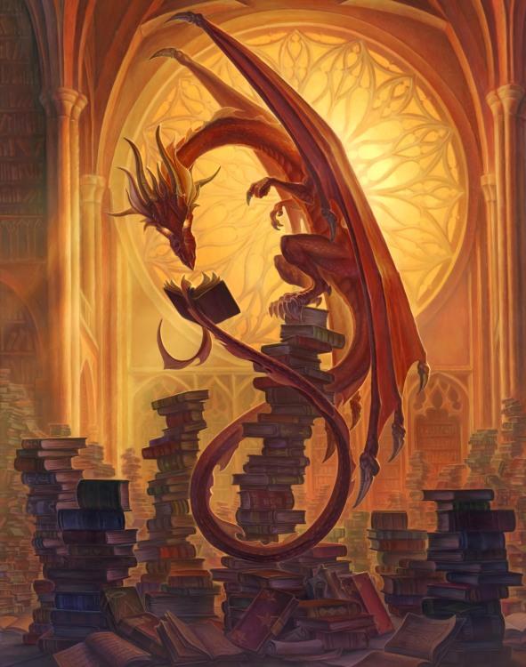 Дракон в бібліотеці