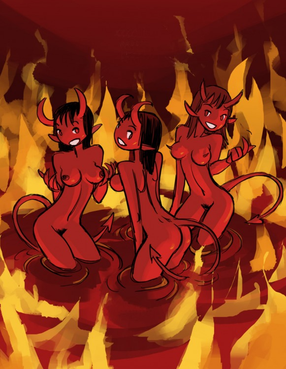 Гарячі чортихи заманюють до пекла