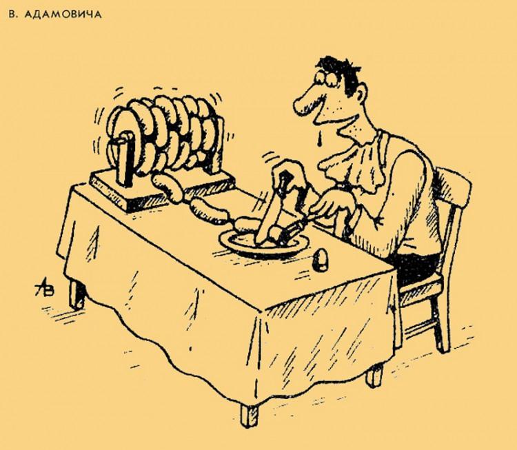 Безкінечний обід з сосисок