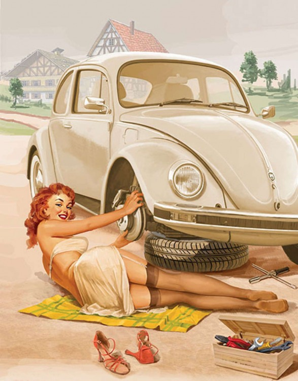 Допоможеш дівчині змінити колесо?