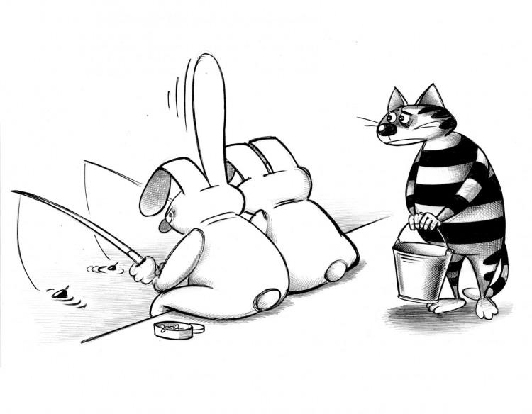 Зайці рибалки